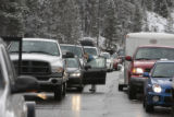 West bound I-70  traffic iis at a dead stop east of the Eisenhower Tunnel, Wednesday morning,...