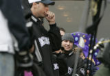 0636 The Colorado Rockies left fielder Matt Holliday joins thousands of fans in Skyline Park for a...
