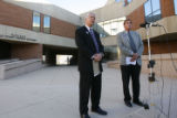 DM3341   Weld County District Attorney Kenneth Buck, left, and Weld County Sheriff John Cooke,...