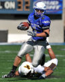 Air Force Falcons wide receiver Chad Hall (1) runs against Wyoming Saturday afternoon, Oct. 20,...