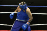 Gildardo Garcia was on the ropes for a while but won his bout against Aaron Abrams at the Police...