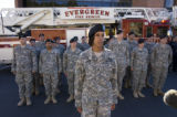 DM3415  1st Lieutenant Nicole Miner, 26, lines members of 3rd Brigade, 4th Infantry Division...