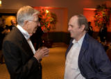 (Denver, Colo., Nov. 17, 2007) Bob Brown (left) asks Bob Newhart if he really was an accountant...