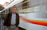 Steve Andrews (cq) waits to catch a train home, Tuesday morning, November 6, 2007, at 16th and...