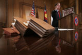 (9/16/04, Denver, CO)  Gov. Bill Owens held a press conference in the Executive Chambers of the...