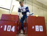 DM0748   Election official Sal Troisi removes full ballot boxes from the drop-off site at Denver...