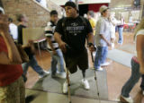 Nikko Landeros (cq),18, makes his way through the halls of Berthoud High School in Berthoud,...