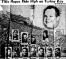Rocky Mountain News clipping featuring the 1954 Denver University football team as they prepare...