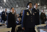 Marie Cosby (cq), seated, who will be 98 on Tuesday, was honored during the Veterans' Salute 2007...