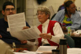 MJM779  Election employees sort through ballots with errors at election headquarters in downtown...