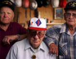 (Cortez, CO. - SHOT 5/18/2004) World War II veterans (left to right) Leroy Crawn, 77, of Cortez;...