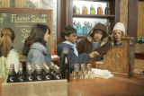(l-r) Natasha, Anjay, Greg and Blaine work the general store on KID NATION, the new reality series...