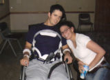 A photograph taken of Andy Blood and his wife Carrie as he recovered at Craig Hospital in Denver,...