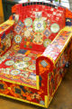 A mosaic chair in the gallery of Abbas Khajeaian and his daughter Roya at 910 Santa Fe Dr....