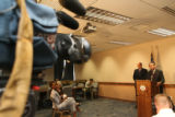Attorney General John W. Suthers (cq) holds a press conference along with the Deputy Attorney...