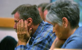 Mitch Cozad's father Richard Cozad listens as the prosecution rested in the trial of his son in...