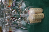 The Trail Ridge WInery corks from bottles used for a tasting demonstration on Monday August 6,...