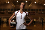 2007 Rocky Preps fall preview, focusing on the top Class 3A volleyball top player. Senior #1 Lydia...