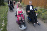 DLM0534  Lisa Potter, front left, heads to prom with her date Justin Bergers during Camp...