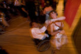 DLM0891  Counselor Halley Goymerac dances with camper Rob Hanley during the Camp Leadership Prom...