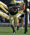 University of Colorado running back Hugh Charles during afternoon practice Thursday  August 16,...