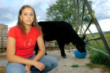 Brandi Calderwood, 16, is seen at her home in Ignacio, Colo., on Aug. 29, 2007. Calderwood and her...