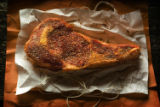 (NYT28) UNDATED -- August 21, 2007 -- SIMPLE-COOKING -- When cooking steaks, like this rib-eye,...