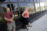 Jim Hammond (cq), of Westminster, Colo., left, and Linda Beck, (cq), of Lakewood, Colo., watch...