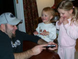 Jason Wenger with nieces Lizzie and Abigail Billings