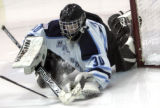 Ralston Valley goalie Matt Hardiek gets a save in the 3rd period, not allowing a goal as Ralston...