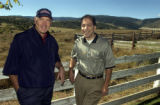 Sedalia, Colo.-September 23,2004-L to R: George Hanlon and Armen Suny of the Headwaters project....