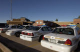(DENVER, Colo., September23, 2004) exterior back of building with squad cars parked.  Chief...