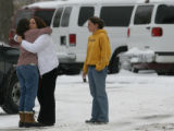 Hugs were exchanged outside The Youth with a Mission campus in Arvada after it reopened Tuesday...
