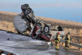 Gas tanker overturned near York and 74th Ave. Wednesday  morning February 18,2009. The driver...