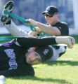 (0076) Pitcher Jeff Francis stretches at Colorado Rockies spring training at Hi Corbett Field in...