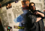 Randy Jay, DJ at KRWZ-AM, in the hallway of the radio station on Saturday February 21, 2009, which...