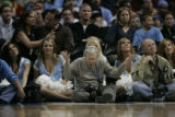 Dennis Schroeder (cq) expresses frustration during the third quarter at the Pepsi Center in...