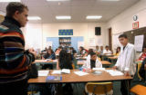 (DENVER, CO., SEPTEMBER 23, 2004) (Foreground far Lt. then far Rt.) North High School teacher Paul...