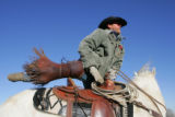 Cattle and bucking horses which will be featured in the 2005 National Western Stock Show rodeo are...