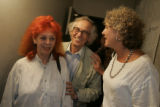 Artists Christo and Jeanne-Claude were joined by project director Jonita Davenport and Vince...