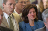 DENVER, COLORADO, AUGUST 22, 2005-- At the City and County Bldg, Anna VanderJagt widow of DPO...