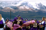 (FOUNTAIN, Co., SHOT 10/2/2004) Lake County Panthers' QB/DB Justin Lopez (#8, freshman) and his...