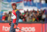 Benjamin Raich, of Austria won the gold medal in the mens' olympic slalom skiing event. Bode...