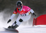 Daniela Meuli, of Switzerland, won the gold medal in the Women's Parallel Giant Slalom...