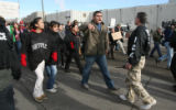 Alonzo Barron, a student at the University of Northern Colorado, confronts an ICE agent after a...