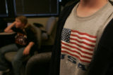 Tim Kerstiens (cq), 14, a student at Shaw Middle School waits at the KHOW radio studio in Denver,...