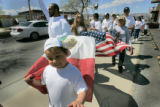 Pro-immigrant groups hold a demonstration and rally in   Grand Junction, Colorado, as well as...