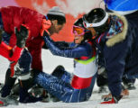American skier Ted Ligety won the gold medal in the Men's Combined Slalom event at the 2006 Winter...
