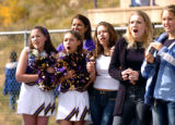 (FOUNTAIN, Co., SHOT 10/2/2004) Lake County High School cheerleaders and students react as the...
