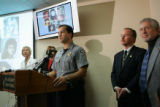 El Paso County Sheriff Terry Maketa, cq, center, talks about Robert Browne's jailhouse confession...